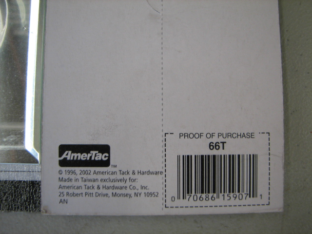 Amertac 66T Genuine Mirror Glass 1 Toggle Switch Wall Plate Three