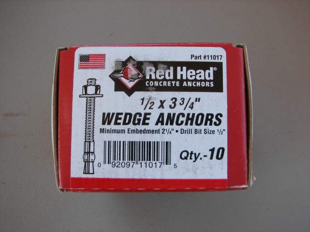 redhead brand electrical anchors